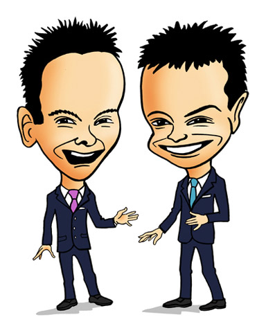 caricature - ant anAnt and Dec caricatured dec